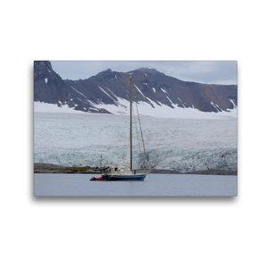 Premium Textil-Leinwand 45 cm x 30 cm quer Segelyacht in einem F