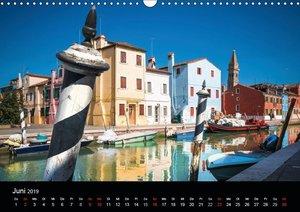 Venedig und Burano - Ein Tag in der Lagune (Wandkalender 2019 DI