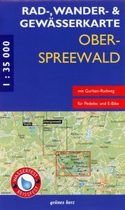 Oberspreewald 1 : 35 000 Rad-, Wander- und Gewässerkarte