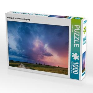 CALVENDO Puzzle Einzelzelle im Sonnenuntergang 1000 Teile Lege-G
