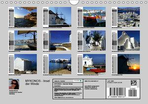 MYKONOS - Insel der Winde (Wandkalender 2019 DIN A4 quer)