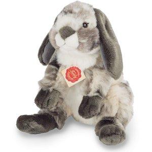 Teddy Hermann 93799 - Widderkaninchen sitzend grau-weiß, 23 cm,