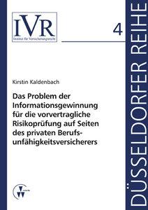 Das Problem der Informationsgewinnung für die vorvertragliche Ri