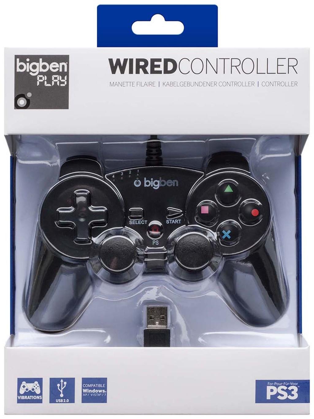 PS3 Controller mit Rumble-Funktion für Playstation® 3 und PC kom - zum Schließen ins Bild klicken