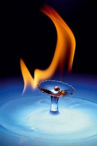 Premium Textil-Leinwand 30 cm x 45 cm hoch Olympic Flame