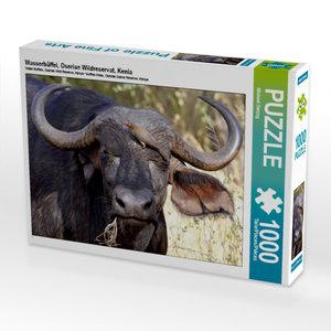 CALVENDO Puzzle Wasserbüffel, Oserian Wildreservat, Kenia 1000 T