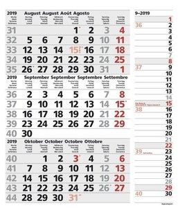 3-Monats-Planer Combi Grau 2019