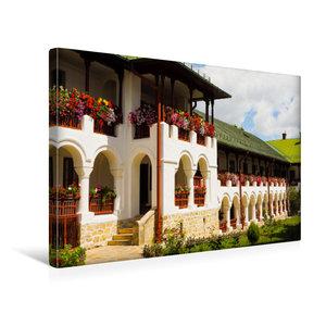 Premium Textil-Leinwand 45 cm x 30 cm quer Kloster Agapia