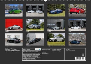 8J SporTTwagen Coupé und Roadster (Wandkalender 2020 DIN A2 quer