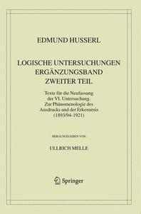 Logische Untersuchungen. Ergänzungsband. Zweiter Teil