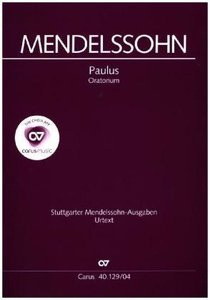 Paulus op.36, Klavierauszug, deutscher Text