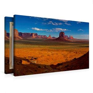 Premium Textil-Leinwand 75 cm x 50 cm quer Monument Valley, Ariz