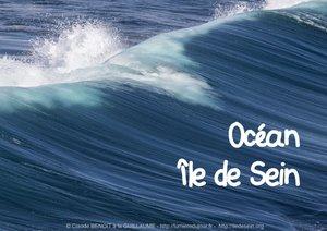Océan Île de Sein (Livre poster DIN A3 horizontal)