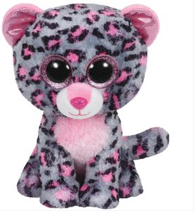 Ty Tasha-Leopard pink/grau, ca. 15cm