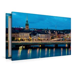 Premium Textil-Leinwand 120 cm x 80 cm quer Stockholm
