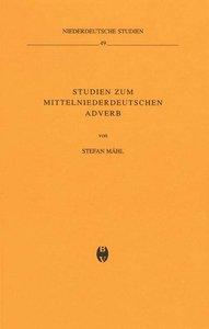 Studien zum mittelniederdeutschen Adverb