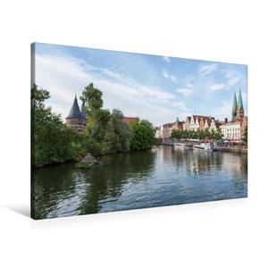 Premium Textil-Leinwand 90 cm x 60 cm quer Obertrave in Lübeck