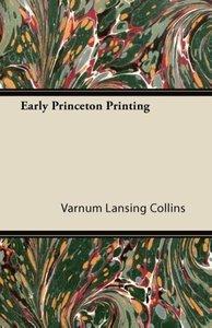 Early Princeton Printing