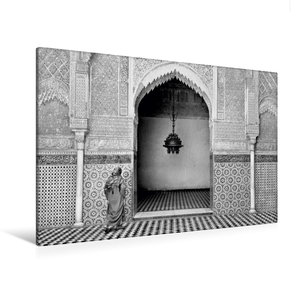 Premium Textil-Leinwand 120 cm x 80 cm quer Madrasa Attarine in
