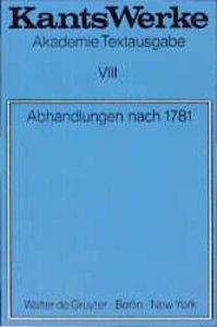 Abhandlungen nach 1781