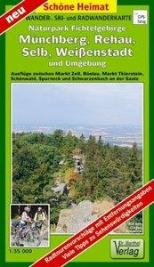 Wander - und Radwanderkarte Naturpark Fichtelgebirge, Münchberg,