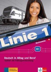 Linie 1 Schweiz B1. Testheft mit Prüfungsvorbereitung und Audio-