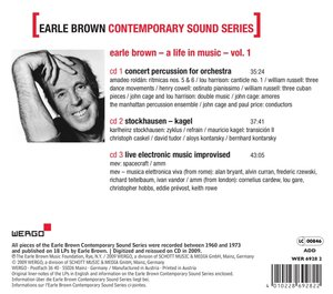 Earle Brown Contemporary Sound Series,Vol.1