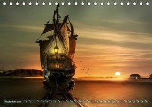 Auf wundersamer Reise im Reich der Fantasie (Tischkalender 2019