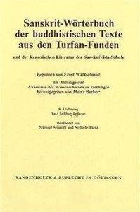 Sanskrit-Wörterbuch der buddhistischen Texte aus den Turfan-Fund