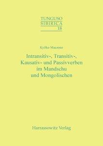 Intransitiv-, Transitiv-, Kausativ- und Passivverben im Mandschu