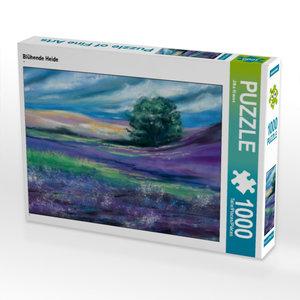 Blühende Heide 1000 Teile Puzzle quer