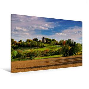 Premium Textil-Leinwand 120 cm x 80 cm quer Holländer-Windmühle