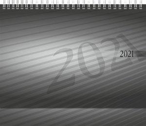 rido Tischkalender 2021 Karton-Aufsteller mit verlängerter Rückw