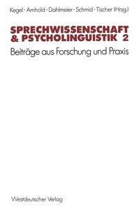 Sprechwissenschaft & Psycholinguistik 2