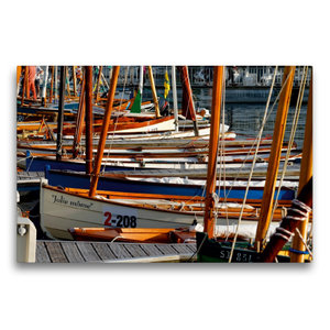 Premium Textil-Leinwand 75 cm x 50 cm quer Port von Vannes