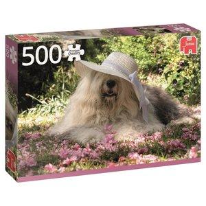 Sophie in einem Blumenbeet - 500 Teile Puzzle
