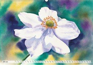 Blumenaquarelle aus der Nähe