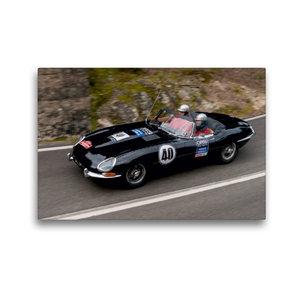 Premium Textil-Leinwand 45 cm x 30 cm quer Jaguar E-Type