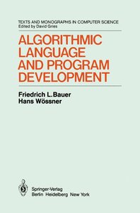Algorithmic Language and Program Development