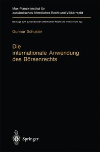 Die internationale Anwendung des Börsenrechts