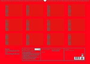 Bastel-Geburtstagskalender rot / Geburtstagskalender