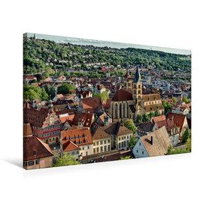 Premium Textil-Leinwand 75 cm x 50 cm quer Altstadt Esslingen am