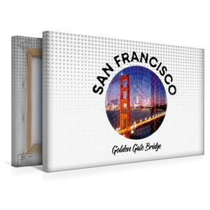 Premium Textil-Leinwand 45 cm x 30 cm quer Graphic-Art SAN FRANC