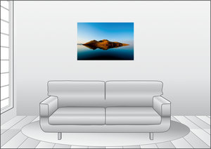 Premium Textil-Leinwand 90 cm x 60 cm quer Lake Argyle