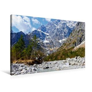 Premium Textil-Leinwand 75 cm x 50 cm quer Eisbach