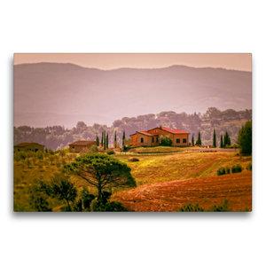 Premium Textil-Leinwand 75 cm x 50 cm quer Toskana