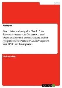 """Eine Untersuchung der """"Lücke"""" im Parteiensystem von Österreich u"""