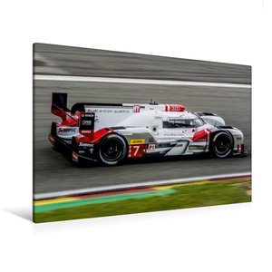 Premium Textil-Leinwand 120 cm x 80 cm quer Audi R18 e-tron quat
