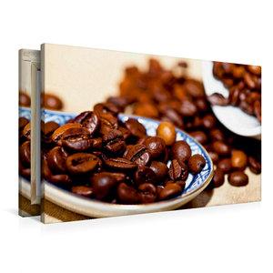 Premium Textil-Leinwand 90 cm x 60 cm quer Kaffeebohnen