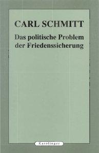 Das politische Problem der Friedenssicherung